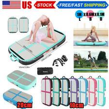 Inflatable Air Floor Track Home Sports Gymnastics Tumbling Mat GYM + Pump 10/20