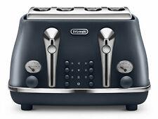 Delonghi CTOE4003.BL Vintage Icona Elements 1800W 4-Slice Blue Toaster