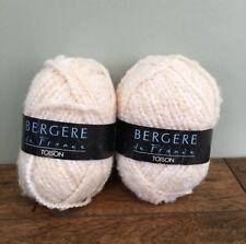 Bergere De France Toison Wool Yarn 50g Col 20237 Cream Knitting Craft Brand New