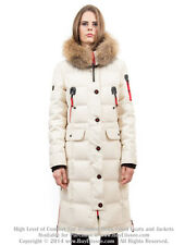 * Goose Down Coat Jacket Parka w/ Raccoon Fur sz L US 10 EU 42 $895 Пуховик Енот