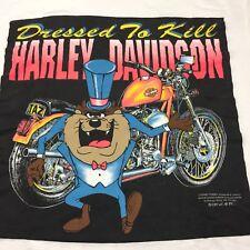 Vintage Harley Davidson Taz Large T-shirt Motorcycle Motor Tasmanian Devil Bike