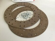 """Austin, BMC, Commercial, Pair of 11"""" Clutch Linings, NOS."""