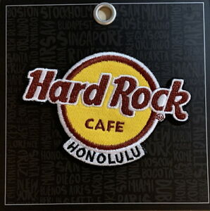 Hard Rock Cafe HONOLULU 2020 Classic HRC Logo PATCH with Card Easy Iron/Sew ON