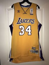 8791b5330 Adidas Shaquille O neal Los Angeles Lakers Soul Swingman Throwback Home  Jersey - Gold