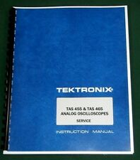 Tektronix TAS 455 & TAS 465 Service Manual: Comb Bound & Protective Covers