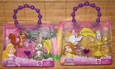 Disney Princess Sleeping Beauty & The Beast Bobble Figures Bracelet 2 Sets New