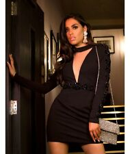Forever Unique Women's Elma Long Embellished Sleeved Bodycon Dress - Black