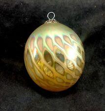 Craig Zweifel Iridescent 2010 Studio Art Glass Hand Blown Ornament Swirl Net