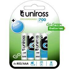 Piles rechargeables Uniross pour équipement audio et vidéo AAA