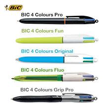 BIC 4 Colours Ballpoint Pen- Original - Pro - Fluo - Fun - Grip Pro