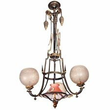 American 19th Century 3 Arm Gas Chandelier