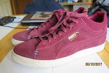 48605301b373 PUMA Stepper Men s Plum Leather Suede Shoes 13 M Excellent Condition RARE