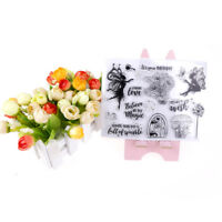 Transparent Clear Silicone Stamps Fairy for DIY Scrapbooking Card Making E& BRC3