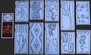 Lochkarten-Set 58 (291-300) Jauard-Motive Brother / Empisal Strickmaschine