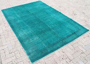 "Turkish Rug 77""x109"" Hand Woven, Overdyed, Anatolian Carpet, 196x278cm,"