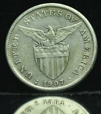 1907s US-Philippines 1 Peso Silver Coin - lot #17
