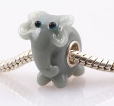 1pcs SILVER MURANO GLASS BEAD LAMPWORK Animal Fit European Charm Bracelet DW036A
