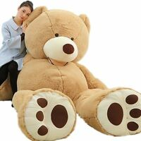 "78""GIANT BIG BROWN TEDDY BEAR Shell Cover no cotton ANIMAL PLUSH SOFT TOY"