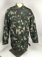 Garrison Dress Allover Army Print Heavyweight Full Zip Snap Button Jacket Sz 38