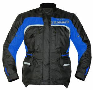 GMAC PILOT 100% WATERPROOF / ARMOURED TEXTILE JACKET BLACK / BLUE XL RRP £119