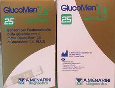 GLUCOMEN LX 25 STRISCE REATTIVE PER MISURAZIONE DELLA GLICEMIA CE AUTO CODING