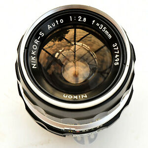 Vintage Nikon Nikkor S Auto 35mm f/2.8 Factory AI Converted. Nr. Mint. Tested.