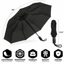Repel Windproof 11.5 inch Double Vented Travel Umbrella with Teflon Coating