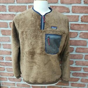 Patagonia Men's Medium Double Sided Fleece Pullover. Owl Brown.