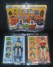 "BATMAN, ROBIN & ACCESSORY PACK World's Greatest Heroes Mego Style 8"" DC Comics"