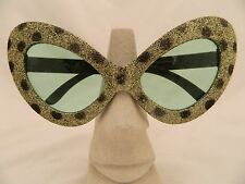 Halloween Sunglasses green with glitter