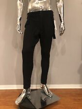 True Religion $249 Unisex Tapered Black Pants Size 0