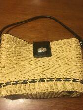 BRIGHTON Woven Straw Hobo Purse Hand Bag Shoulder Bag