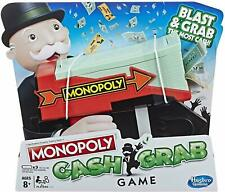 NEW OFFICIAL HASBRO GAMING MONOPOLY CASH GRAB GAME