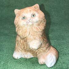 Vintage Hand Painted Ceramic Cat Figurine