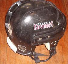 PHOENIX COYOTES Brad May game-worn road CCM helmet #32 (from 2000-2001 season)