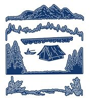 Tattered Lace Picture Getaways Camping (538069)  Metal Cutting Die