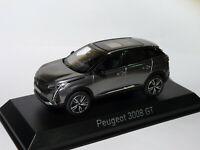Peugeot 3008 GT de 2020 Gris Platinium au 1/43 de NOREV 473921