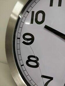"NEW Howard Miller Round Wall Clock 625-450 Spokane 15 3/4"" Round -Broken Glass-"