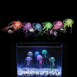 Artificial Aquarium Jellyfish Glowing Effect Ornament Underwater Tank Jelly Fish