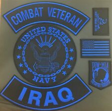 U.S. NAVY SEAL COMBAT VETERAN IRAQ MILITARY POW FLAG MOTORCYCLE LOT OF 6 PATCHES