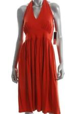 Summer Halter Sleeve Solid Dresses for Women