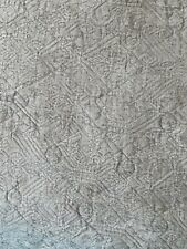 """SOFT GRAY Vintage inspired  Textured Cotton QUILT HEAVY 98"""" x 90"""""""