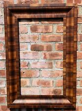 Circa 1875 Antique Ogee Empire Style Picture Frame With Flame Mahogany Veneers