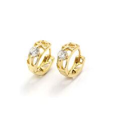 Ohrringe mit klaren Zirkonia ~ Comtesse Earrings XII. ~ 18 Karat vergoldet