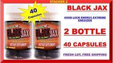 2 BLACK JAX by Stacker 2 ENERGY PILLS 20 Capsule BOTTLES = 40 Capsules Fresh Lot