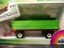 WOW EXTREMELY RARE #2551 Side Tipping Tractors Trailer 2-Axled L.Green 1:32 Siku