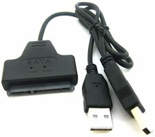 "AYA USB 2.0 to 2.5"" 7+15P 22Pin SATA 2.0 II HDD/SSD Adapter Cable Win/Mac"