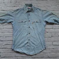 Vintage 70s Levis Orange Tab Western Shirt Size M