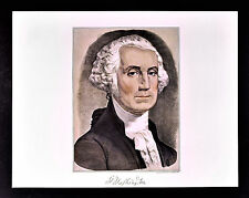 Currier and Ives Print - US President George Washington Portrait - Vintage Repo