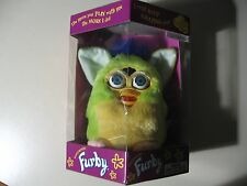 """6"""" electronic Lime Green Furby doll, by Tiger Electronics 1999, Brand New Sealed"""